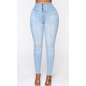 Butt 4 Me Skinny Jeans - Light Blue Wash